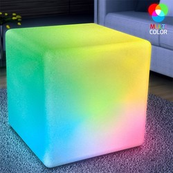 Category: Dropship Arts & Entertainment, SKU #210, Title: Huge LED Cube Light Chair Stool Table Furniture