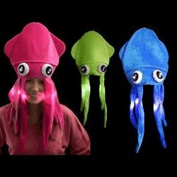 Category: Dropship Arts & Entertainment, SKU #3995442, Title: 1 Dozen Assorted LED Under the Sea Squid Hat
