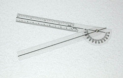 Plastic 6-3/4 Goniometer 180 Degrees