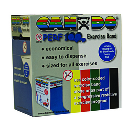 Cando No Latex Exercise Band Green Medium 100yd Dspnser Box