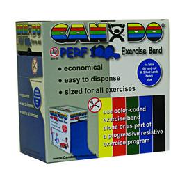 Cando No Latex Exercise Band Blue Heavy 100yd Dispenser Box