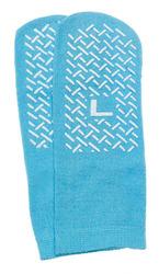 Slipper Socks; Large Sky Blue Pair Men's 7-9 Wms 8-10