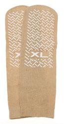 Slipper Socks; XL Beige Pair Men's 10-12 Wms 11-13
