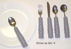 Weighted Utensils Set/3 Teaspoon Fork & Knife