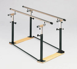 Folding Parallel Bars 10' w/Wood Base