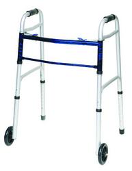 Folding Walker w/5 Wheels Adult--(ProBasic)