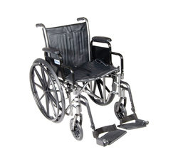 Wheelchair Econ Rem Desk Arms 20 w/SF Dual Axle
