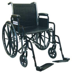 Wheelchair Economy Fixed Arms 16 w/Elevating Legrests