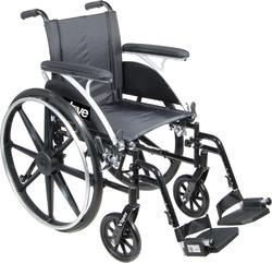 Category: Dropship Medical, SKU #10967T, Title: Wheelchair  Viper w/Flip Back Desk Arms  14   Elev Legrests