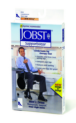 Jobst For Men 8-15 Sock Over-The-Calf Black Medium