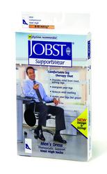 Jobst For Men 8-15 Over-The-Calf Sock White Large
