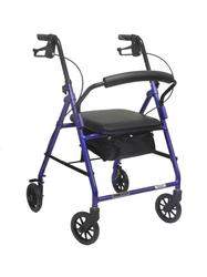 Aluminum Rollator w/Loop Brake Blue (PMI) 4-Wheel