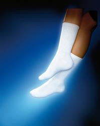Sensifoot 8 -15 Crew Diabetic Socks Medium White