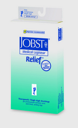 Jobst Relief 30-40 Thigh-Hi Black Large Silicone Band