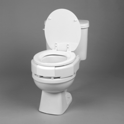 Elevated Toilet Seat Hinged 3 Secure Bolt Std Bariatric