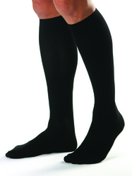 Jobst For Men 15-20 Knee-Hi Black Medium (pair)