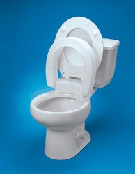 Raised Toilet Seat Standard Hinged