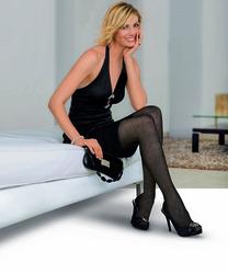 Jobst UltraSheer 15-20 Knee CT Black Large- Diamond Pattern