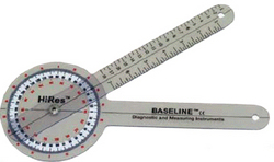 Baseline HiRes Goniometer 12 Plastic 360 Degree