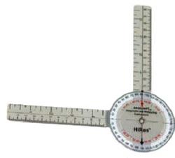 Baseline HiRes Goniometer 8 Plastic 360 Degree