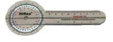 Baseline HiRes Goniometer 6 Plastic 360 Degree