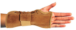Bell-Horn Wrist Brace Suede Small Left 5.5 -6.5