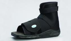 Slimline Cast Boot Black Square-Toe Adult X-Lge