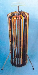 Cane Rack With 16 Wood Canes