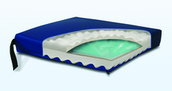 Gel Convoluted Foam Cushion 17 x17 x3 Navy