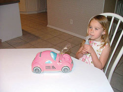 Checker Car Nebulizer Pink