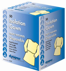 Fluid Proof Poly-Coated Isolation Gowns Cs/50
