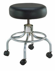 Classic Doctors Stool w/o Back w/FootRing &Casters Drive