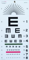Illiterate Eye Chart 22 x11