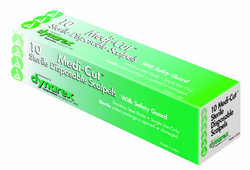 Scalpel #21 Disposable Generic Box 10 w/Safety Guard