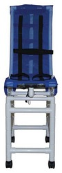 Bath Chair Articulating Sm PVC Reclining w/ Base & Caster