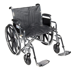Wheelchair Std Dual-Axle 22 w/Rem Desk Arms & Elev Legrest