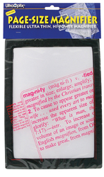 Magnifier Full Page Reading Fresnel 7 x10 w/Border