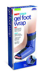 Gel Foot Wrap Hot/Cold Lg/XL Men 8-13/Wm 9-14