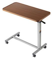 Overbed Table Non-Tilt w/Chrome Finish (30 x15 )