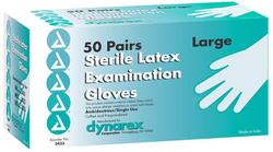 Sterile Latex Exam Gloves Large - 50 Pr/ Bx