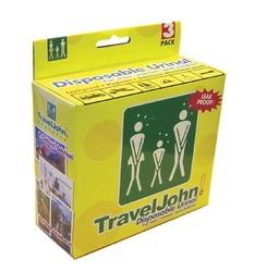 Travel John Disp Urinary Pouch Bx/3