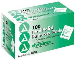 Nail Polish Remover Pads Box/100