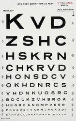 Illuminated Eye Chart-Snellen 10' Distance