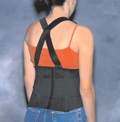 Back Support Industrial W/ Suspenders Med 33-38
