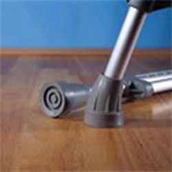 Crutch Tips Grey Large (pair)