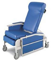 Drop-Arm Convalescent Recliner w/Tray