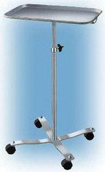 Mayo Instrument Stand w/4-Whl Base w/ Center Post Tray