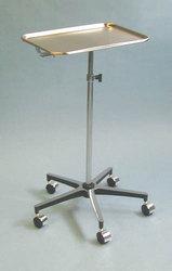 Mayo Instrument Stand w/5-Whl Base w/Center Post Tray