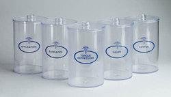 Sundry Jars- Plastic Labeled Set/5