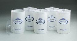 Sundry Jars- Labeled Glass (Set/5) 7 x 4.25